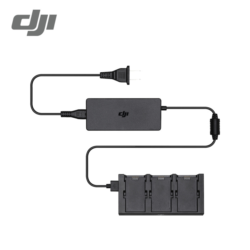 Original DJI Spark Battery Charging Hub Intelligent Flight Battery Charger for DJI Spark dji spark drone 3 in 1 car charger battery charging