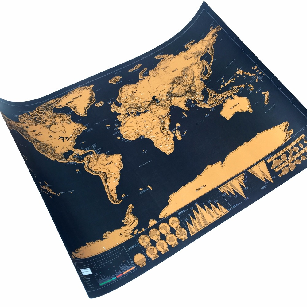 Factory direct scratch off the world map black for home decoration factory direct scratch off the world map black for home decoration wall art craft vintage poster travel scratch map ocean in wall stickers from home gumiabroncs Images