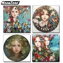 Kit de pintura com figuras de diamante, conjunto de presente para meninas quadrado ou redondo 5d, ponto cruz, bordado à mão, decoração de casa wyz190421