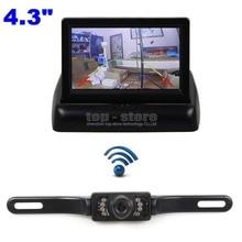 DIYKIT Sans Fil 4.3 Pouce De Voiture Caméra de Recul par Kit de Voiture moniteur LCD Affichage HD CCD Vue Arrière de Voiture Caméra Parking Système