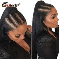 Gossip Hair Pre Plucked Full Lace Human Hair Wigs Glueless Full Lace Wig Human Hair Brazilian Straight Hair Wigs For Black Women