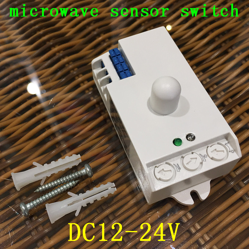 Led Microwave Radar Sensor Switch DC12V-24V 7A light control Hunman Body Motion HF Detec ...