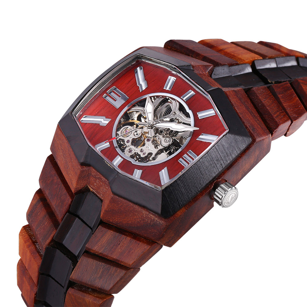 aliexpress com buy bewell watches mens wooden watch automatic aliexpress com buy bewell watches mens wooden watch automatic wood wristwatch relogio masculino sandalwood clock men s skeleton watches man from reliable