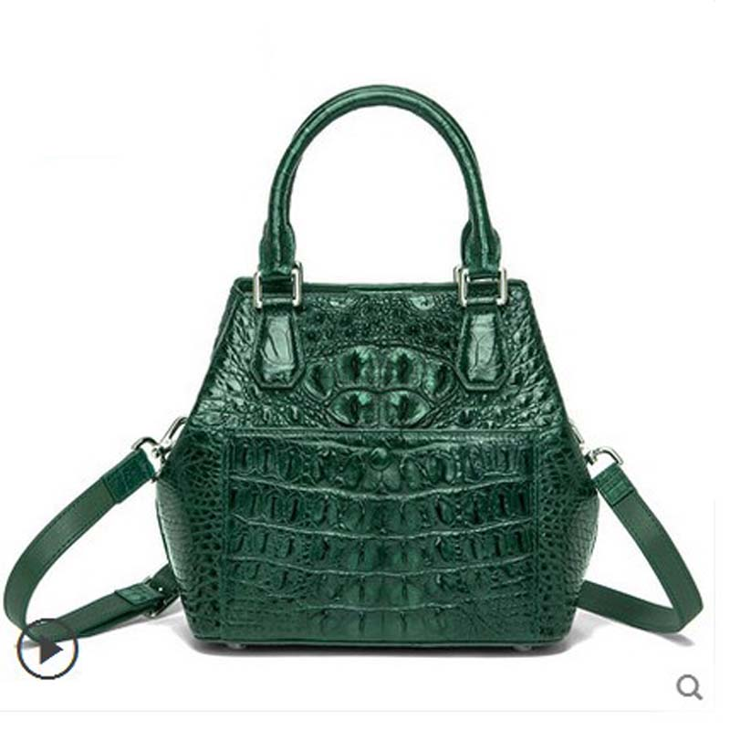 ouluoer thai crocodile skin Women's handbag crocodile leather women handbag European  American style women's single shoulder bag