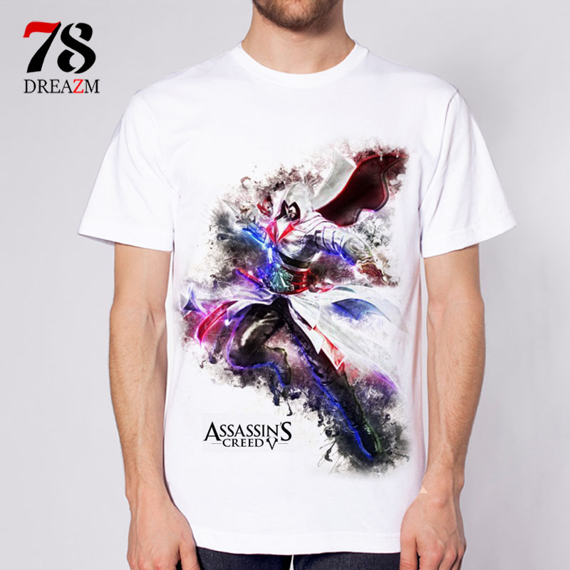 2017 summer assassins creed men 39 s t shirt male design t for High quality custom shirts
