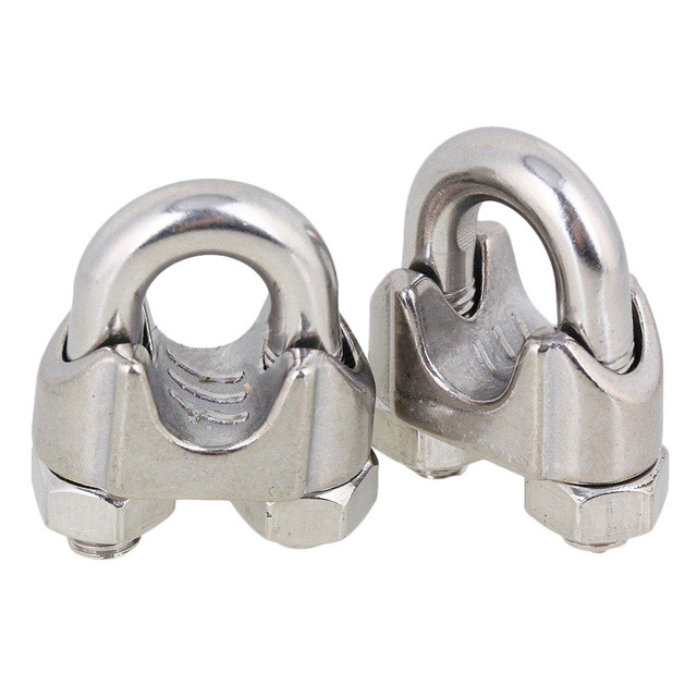 2 pcs Silver 304 Stainless Steel Saddle Clamp Cable Clip for Wire ...
