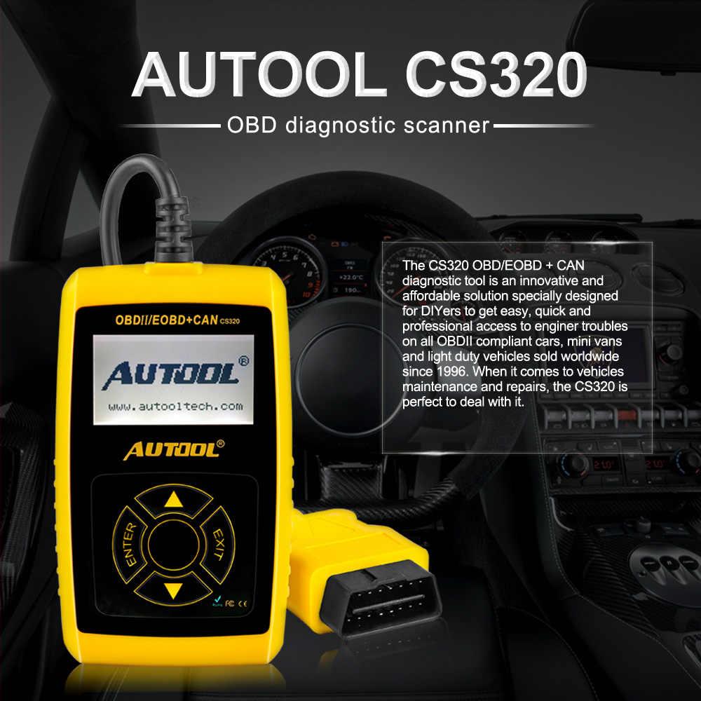 Autool CS320 OBD2 Ô Tô Máy Quét OBD 2 II Xe Ô Tô Mã Tự Động Xe Quét Chuẩn Đoán PK AD310 Phóng X431 OM123 Quét