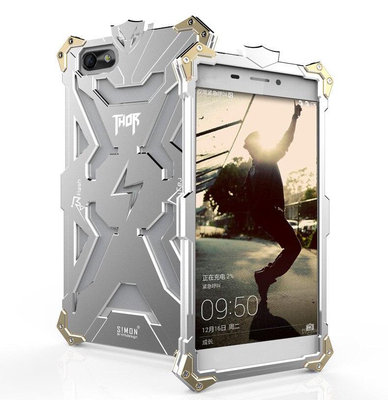 imágenes para Honor 4x Diseño Original Heavy Armor THOR IRONMAN de Polvo de Aluminio del Metal proteger caso de acer del teléfono bolsa de la cubierta del caso para Huawei honor 4x