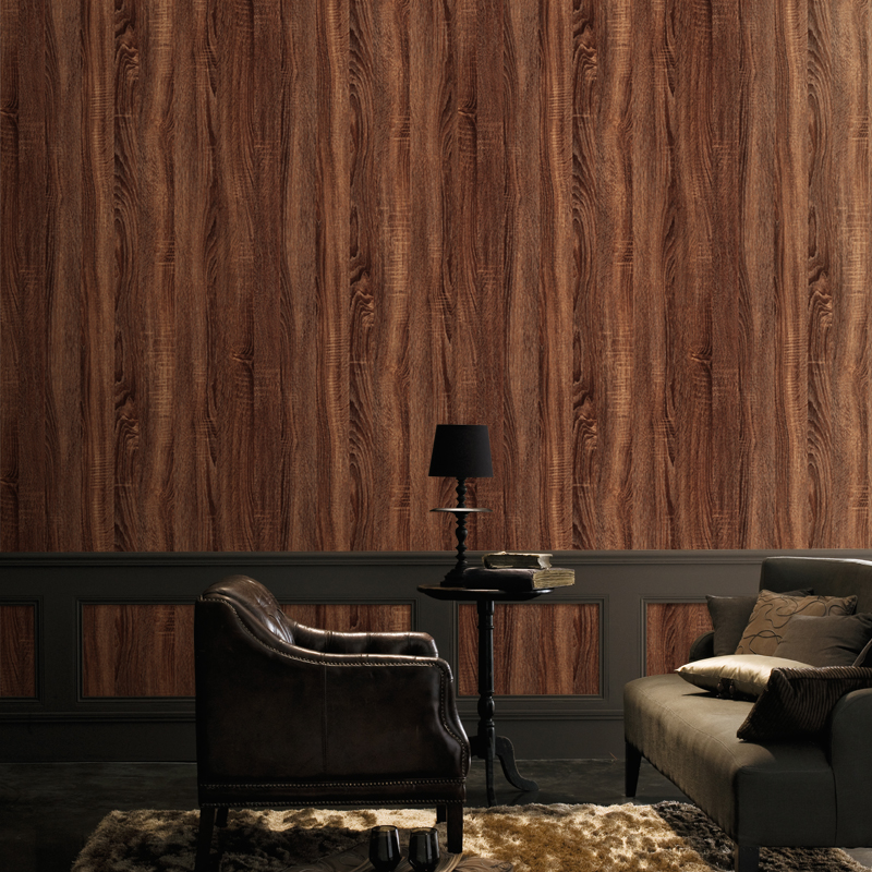Vintage Wallpaper 3D Wood Grain Retro PVC Self-Adhesive Wall Sticker Living Room TV Restaurant Study Home Decor 3D Wall Covering дверь eldorf эко эко 3 остекленная 2000х700 экошпон дуб белёный мелинга