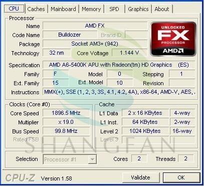 Amd A6 Series A6 5400 A6 5400 A6 5400b A6 5400k 3 6 Ghz Dual Core Cpu Processor Ad540koka23hj Ad540boka23hj Socket Fm2 Cpu Processors