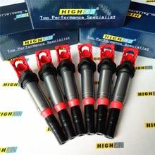 Pack de bobina de encendido Fit 11 17 BMW F32 F33 E46 E82 535i 325i 640i M2 M3 M4 X1 X3 3.0L L6 12137594596 12138616153 610 50203 UF 667