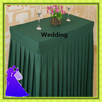 5pcs wedding polyester table skirt wholesale cheap rectangle for sale free shipping