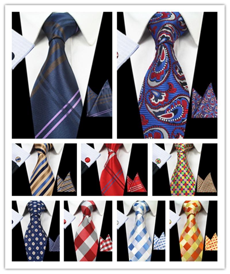 Plaid Men Ties Set Extra Long Size 145cm*8cm Necktie Navy Blue Paisley Silk Jacquard Woven Neck Tie Suit Wedding Party V9011