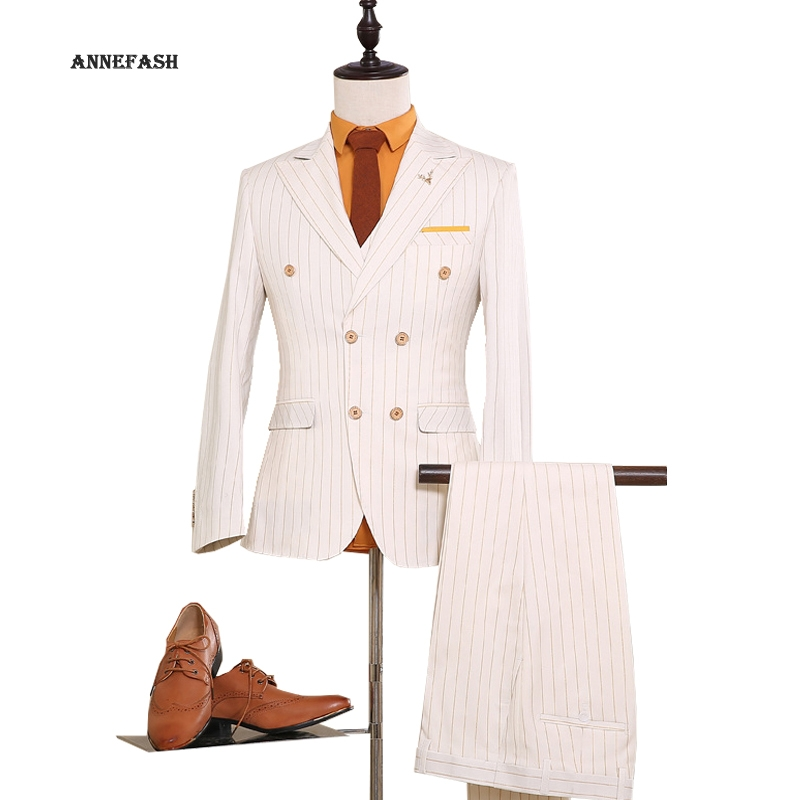 Aliexpress.com : Buy Mens Double Breasted Suit 2017 England Style ...