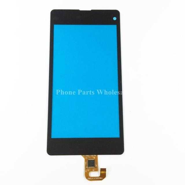 Para sony xperia z1 compact mini d5503 tela de toque digitador painel de vidro exterior do toque sensor flex cabo de peças de reparo