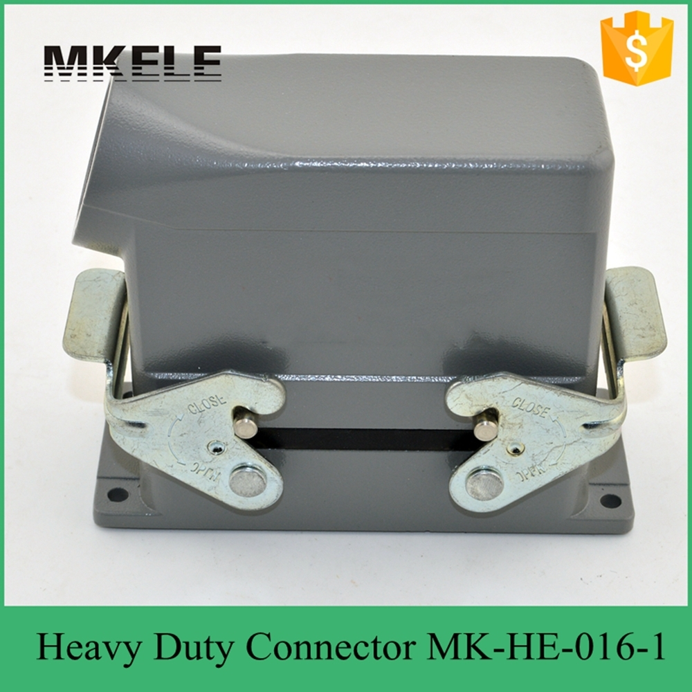 MK-HE-016-1 UL standard impact resistance side entry 400/500V heavy duty power 16 pin connector used in injection mold machine 24 pin 16a terminal block power crimp plug heavy duty connectors for spinning and packing machine mk he 024 4d