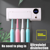 Economical Toothbrush Holder Wall Mount UV USB Charging with Dust Cover Toothbrush Holder Sterilization Sterilizer for Ladies Men's Baby Children's Home Kitchen ds99