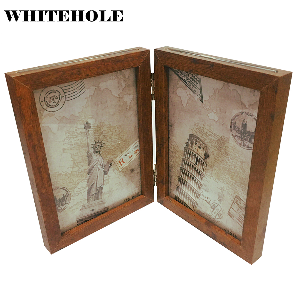 Desktop Photo Frame Wood Picture Frame 10X15 13X18cm Wall Decoration Modern Art Home Decor Family Picture Display image