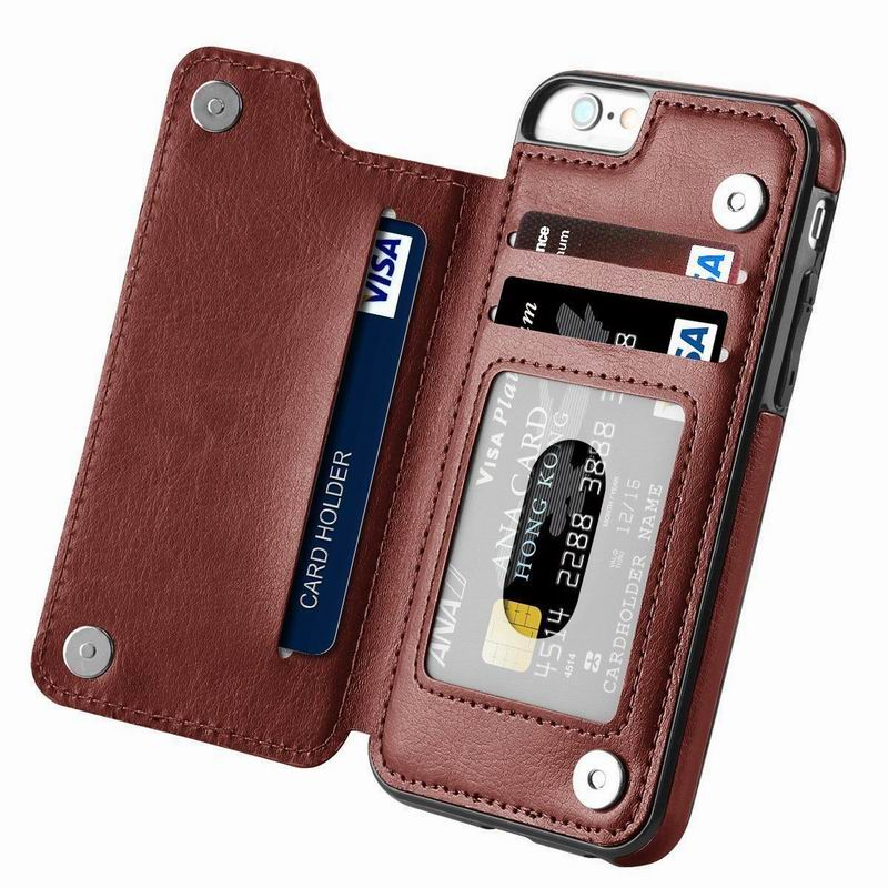 PU <font><b>Leather</b></font> <font><b>Flip</b></font> Wallet <font><b>Case</b></font> For <font><b>iPhone</b></font> <font><b>7</b></font> 8 6 6S s Plus Card Slots Phone Holder Cover For <font><b>iPhone</b></font> X XR XS Max 11 Pro 5 5s SE Coque image