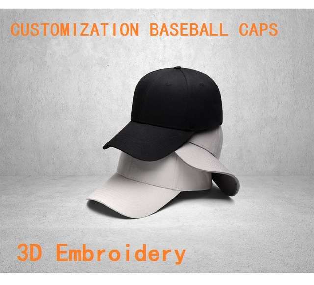 New Excellent Quality Adult 5 Panels 6 Panels Customized Baseball Caps LOGO  Embroidery Snapback Cap Customized Hats Wholesale 2c716926b87