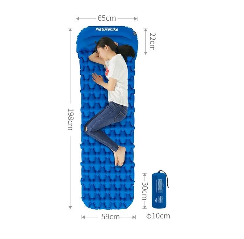 2019 Naturehike New Camping Mat Ultralight Sleeping Pad With Pillow Outdoor Inflatable Mattress Tent Mat