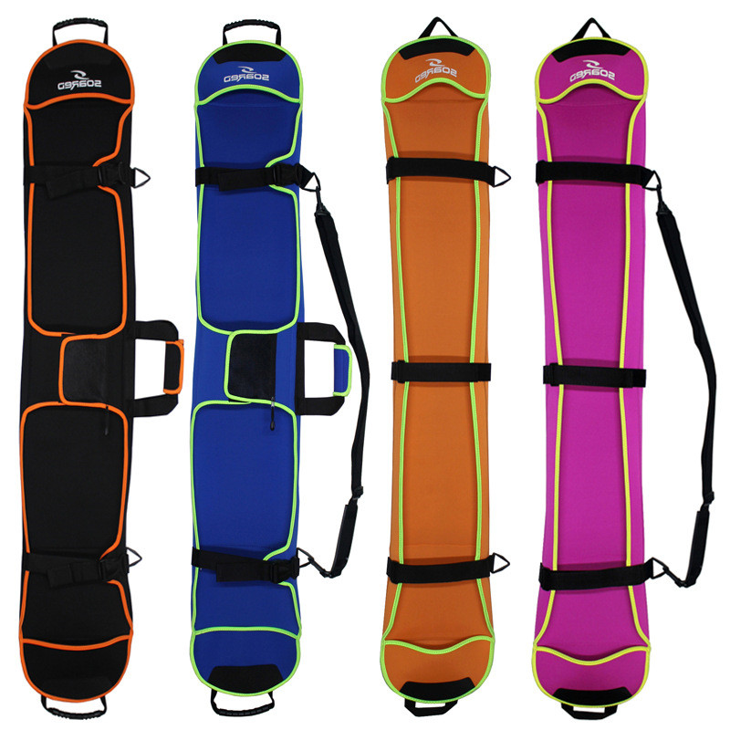 1 Piece Ski Bag Snowboard Bag Diving Cloth Material Skiing Board Bag Snowboard Scratch-resistant Monoboard Plate Protective Case
