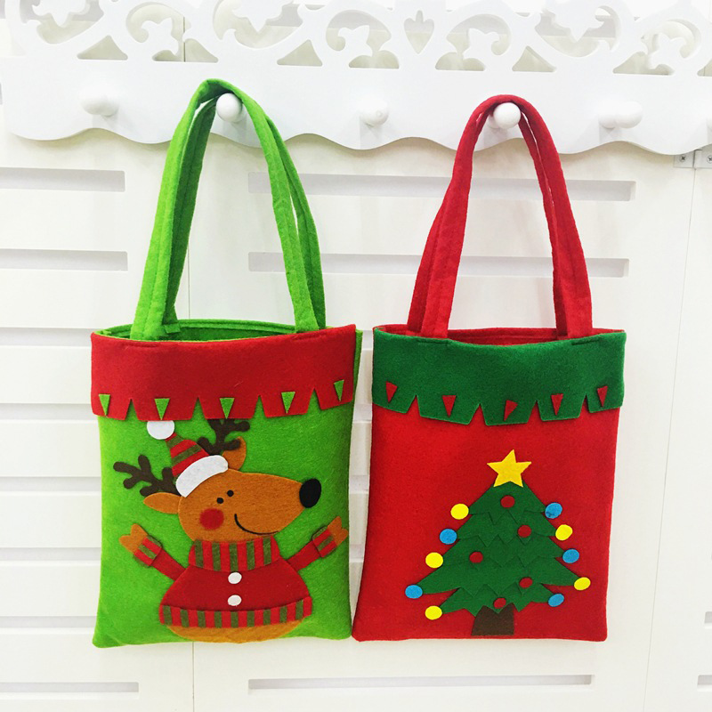 hot 1pc merry christmas tree decoration santa claus snowman kids chocolates candy bag home party decor - Christmas Tree Bags