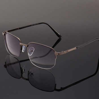 Çok Fonksiyonlu Ile Erkekler Güneş Gözlüğü Diopters Bifokal Metal okuma gözlüğü Moda Erkek Kadın Presbiyopi Gözlük Óculos De Lectura