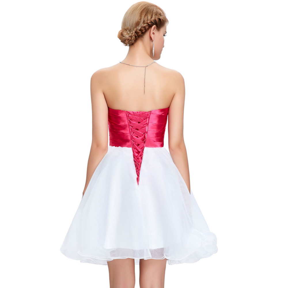 New Arrival Strapless Cocktail Dresses Homecoming Party Short Prom ...