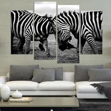 ShangYaLi 4 Panel NO FRAME NUR Zebra Tier Malerei Wandkunst