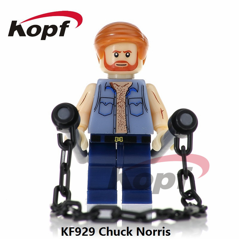 Single Sale Super Heroes The king of Action Films Chuck Norris Deadpool Toxin Bricks Building Blocks Children Gift Toys KF929 single sale building blocks super heroes bob ross american painter the joy of painting bricks education toys children gift kf982