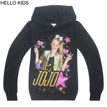 ФОТО 4 to 12years 2018 summer jojo siwa girl t-shirt spring autumn long sleeve hoodie for children sweatshirt set for kids shirts