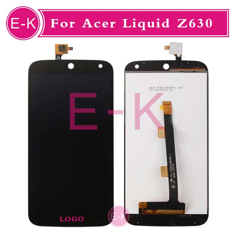 DHL 10Pcs/lot High quality 5.5 For Acer Liquid Z630 LCD Display + Touch Screen Digitizer Assembly Replacement Free Shipping