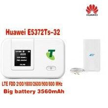 49dbi TS9 Antenna+Original Unlocked Huawei E5372s 4G LTE TDD 2300Mhz  mobile wifi hotspot router+ Thick battery 3560mAh