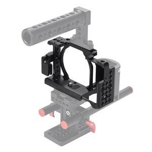 Image 5 - Andoer Video Máy Ảnh Cage + Hand Grip + Xử Lý Hàng Đầu Kit Làm Phim Hệ Thống với Cáp Kẹp đối với Sony A6000 a6300 A6500 NEX7 ILDC