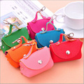 6 Colors Korean Candy Colored Girls Coin Bags Women Key Wallets Cute Mini Coin Purse Children Kids Gifts #GYD88 Size 9*10*5 cm