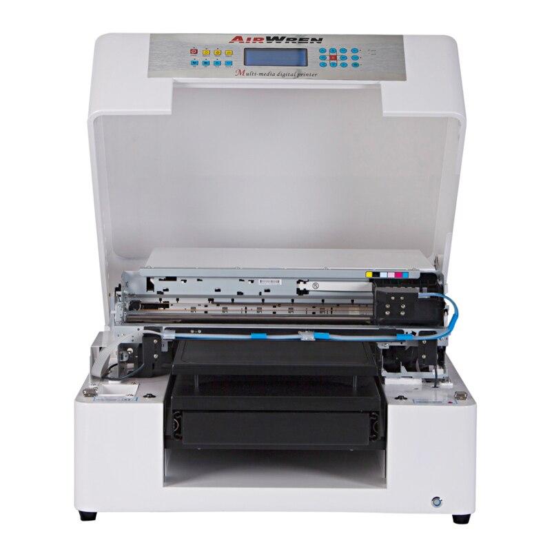 A4 Size DTG T-Shirt Printer To Print Dark Light Color Garment Flatbed Printer Machine