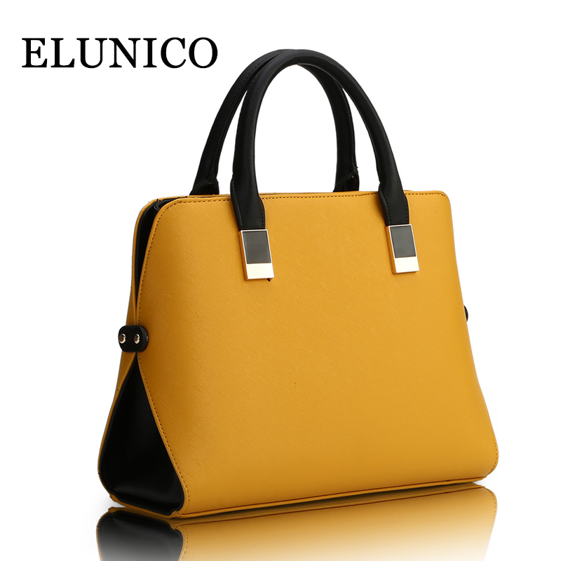 ELUNICO 2018 Summer Luxury Handbags Women Bags Designer Brands Fashion PU Leather Tote Bag Ladies Casual Messenger Shoulder Bags women vintage bucket bag ladies casual pu leather handbags tote high quality messenger bags brands designer shoulder tassel bag