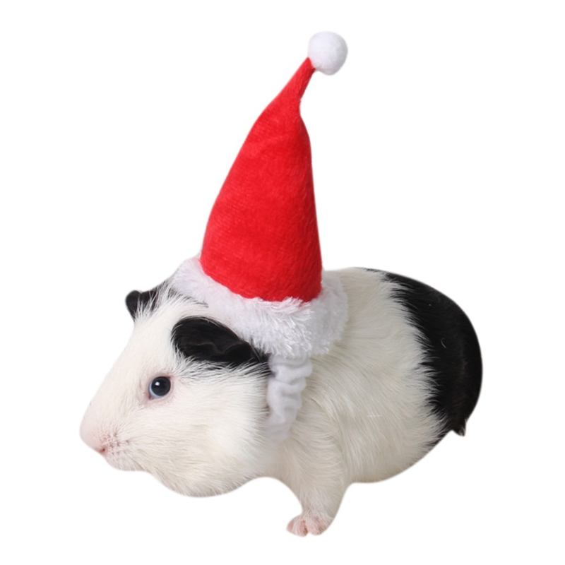 Small Pets Christmas Festival Decorative Costume Hamster Squirrel Santa Hat With Band Pet Products