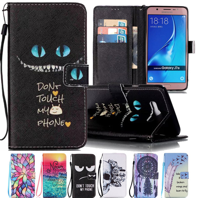 new concept ad4cf f402b For Coque Samsung Galaxy J7 2016 Case Flip Cover Samsung Galaxy J7 6 Cover  Leather Wallet + Silicone Card Holder Flip Stand -in Wallet Cases from ...