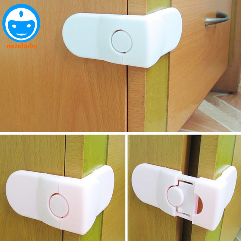 Hearty 1pc Baby Double Snap Multifunction Right Angle Lock 90 Degree Wardrobe Lock For Childrens Safety Kids Care Whole Sale Easy To Use Safety Equipment
