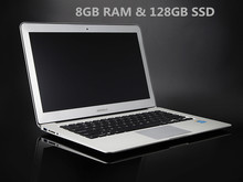 13.3″ ultrabook notebook computer aluminium laptop PC 8GB RAM 128GB SSD alluminated backlit keyboard 1920*1080 HD screen 2957U