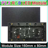 P 2,5 Indoor Voll farbe led-anzeige modul, 160mm x 80mm, 64*32 Pixel, SMD 3 in 1 rgb p 2,5 led panel, Kompatibel mit pin2dmd