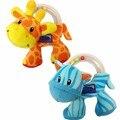 Newborn Baby Plush Rattle Toys Kawaii Giraffe Zebra Infant Hand Rattle Beads Mobile Musical Baby Toys