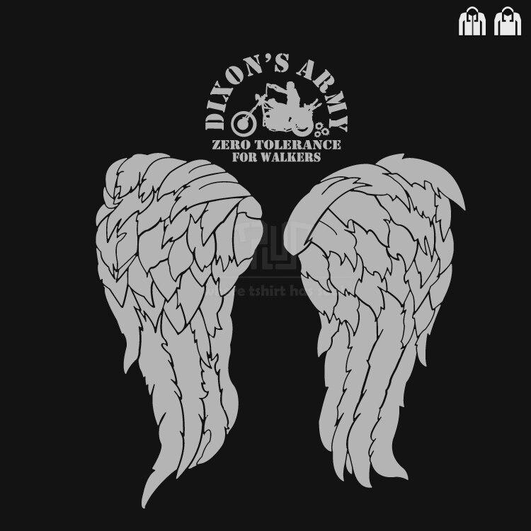 walking dead Daryl wings dixon army walker men unisex pullover hoodie cotton outside fle ...