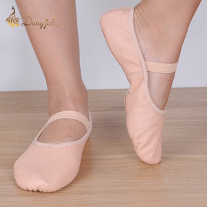Image 5 - Canvas Flat Slippers White Pink White Black salsa Ballet Shoes For Girls Children Woman Yoga Gym According The CM To Buy