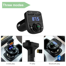 Dual Car Bluetooth Charger-MP3-Hands-free Call-Wireless FM Transmitter