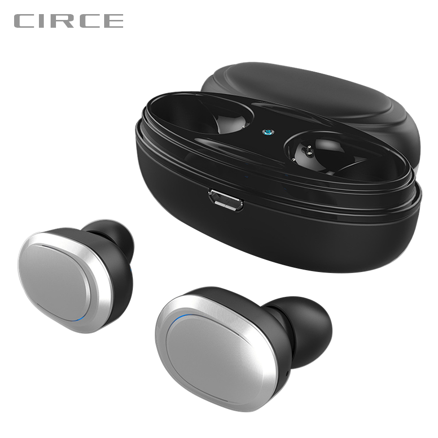 все цены на CIRCE T12 TWS Bluetooth Earphone Wireless Headset Bluetooth Earbuds With Charging box earpiece mic for android ios