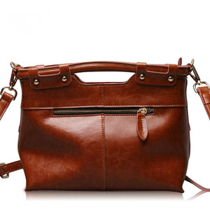 Image 2 - Brand New Fine design Cowskin handbag women casual tote bag fashion Genuine leather shoulder bags female handbag A37