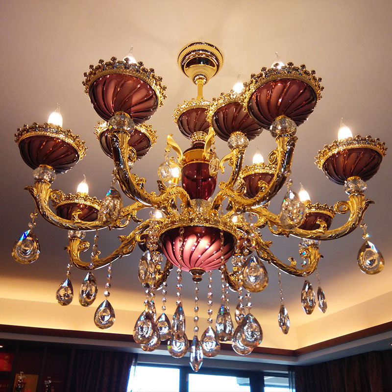 Gold Crystal Chandelier Luxury Hotel Crystal Lamp Duplex Building Chandelier Ceiling Stairs Living Room Lamp Restaurant Light best price jh modern crystal chandelier fixture duplex stairs led crystal lamp for ceiling villa hall chandelier droplight